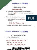 CALCULO numérico secante