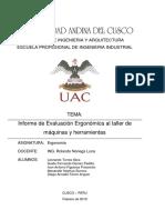 Informe Analisis Ergonomico Taller de Maquinas y Herramientas