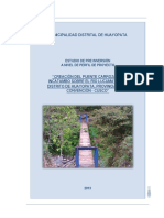 """""""Creación Del Puente Carrozable Incatambo Sobre El Río Lucumayo Del Distrito de Huayopata, Provincia de La Convención - Cusco"""""""
