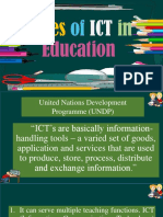 Roles of IcT in Education Sarah