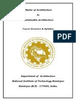 syllabus of m.arch NIT Hamirpur