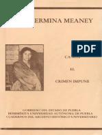GUILLERMINA MEANEY - CANOA, EL CRIMEN IMPUNE