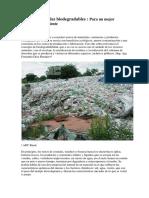 Uso de Materiales Biodegradables