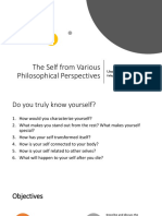 Lesson 1. the Self From Various Perspectives