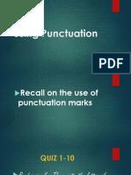 Powerpoint on Punctuation, Quiz