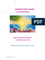 Reencarnación, Karma, Dharma y Ley de Sacrificio