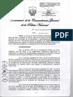 Directiva Normas y Procedimientos Que Regulan El Sistema Estadistico Pnp