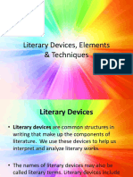 Literary Devices Elements Techniques