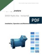 WEG Hydrogenerators Gh20 14824113 Manual English
