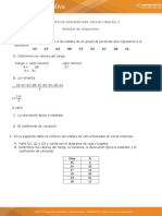 Taller de Estadistica 4... Medidas de Dispersion.