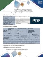 Guía para el desarrollo del componente práctico - Fase 4 - Desarrollar el componente práctico