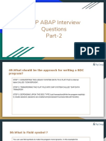interview abap