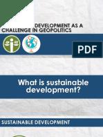 Sustainable Development and Geopolitics