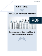 Project Report on Plastic Container Manufacture from Plastic Granules