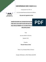DISEÑO DE MURO DE CONTENCION PARA RETENER UN TALUD PARA UN ACASA HABITACION UBICADO EN LA CALLE PRIVADA DIAZ ORDAZ MUNER 46 ,URUAPAN,MICH-2018.docx