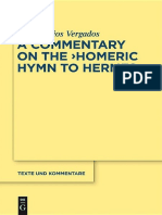 Vergados - The Homeric Hymn to Hermes_ Introduction, Text and Commentary-Walter de Gruyter (2012)