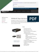 NTP100-TC - NTP Time Code Server for IRIG-B, SMPTE, IEEE 1344 — Masterclock,.pdf