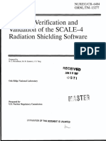 Guide to Verification and Validation of the SCALE-4 Radiation Shielding Software