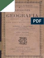 lecciones de geografia - benigno t. martinez