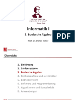 Informatik I 3 Boolesche Algebra s