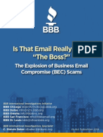 Better Business Bureau report on explosion of business email compromise scams