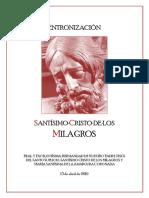 Guión entronización del Cristo de los Milagros