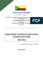 Stratégie Santé Communautaire 2018-2022 _finale