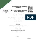 Protocolo Control de Calidad Aspartame