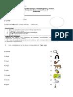 Evaluación Lenguaje, M, P , L