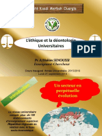 Léthique Et La Déontologie Universitaires