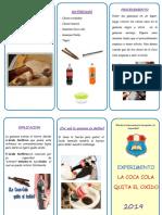 Triptico Coca Cola