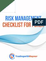 Risk Management Checklist (Forex)