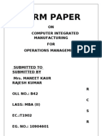 Final Term Paper of Om 22