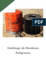 Catálogo de Residuos Peligrosos