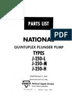 J-250 Parts List