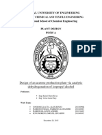 Design of an Acetone Production Plant via Catalytic Dehydrogenation of Isopropyl Alcohol Unlocked