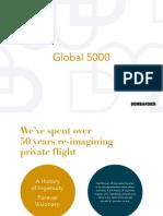 Bombardier Global 5000 Brochures