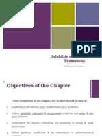 Solubility and Distribution Phenomena