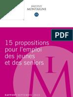 Institut Montaigne Rapport Jeunes Seniors