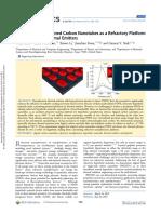 Macroscopically Aligned Carbon Nanotubes as a Refractory Platform