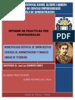 Informe de Practicas Mdsb Tesoreria