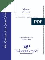 Mae-e (ssaa) - Sentaro Sato.pdf