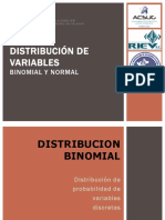Distribución Binomial y Normal