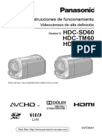 Manual Panasonic HDC-60