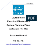 Manual FXB-I22005 Automotive Electrical System Training Panel (Volkswagen Jetta 1.6L)