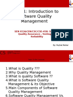 Introduction to Software Quality Management