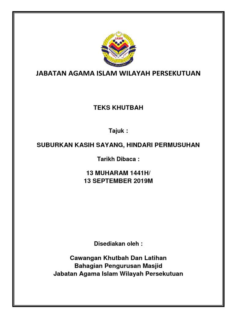 Jabatan Agama Islam Wilayah Persekutuan Teks Khutbah