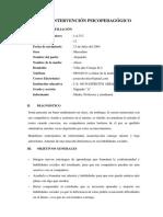 i.e 40159 Ejercito Arequipa Caso Plan de Intervencion Psicopedagogico Caceres Olcon Leoncio Charly