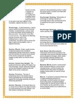 Terminologies in PCD