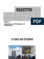 Week 1 - Objective and Principles of Marketing